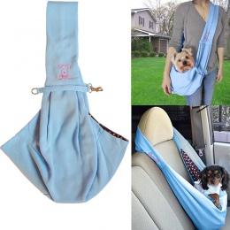 Bez użycia rąk odwracalne mały pies kot Sling Carrier torba torba podróżna miękkie wygodne dwustronny pokrowiec na ramię do prze