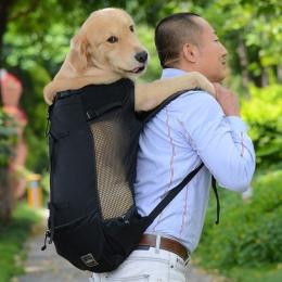 Oddychająca Pet torba do noszenia psa dla dużych psów Golden Retriever buldog plecak regulowany duży pies torby podróżne produkt