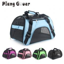 Fioletowy przenośny Torba dla zwierząt różowy pies torby na zakupy niebieski kot przewoźnik wychodzących podróży oddychające zwi
