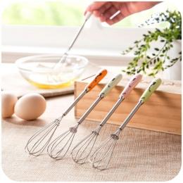 Wielofunkcyjny uchwyt ceramiczny ręcznie ze stali nierdzewnej pałeczki do jajek gadżety kuchenne jajko mieszanie trzepaczka obro