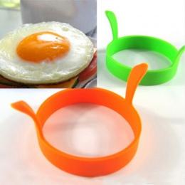 Hot 1 Pc losowy kolor DIY okrągłe śniadanie jajo silikonowe formy naleśnik narzędzia kuchenne akcesoria kuchenne