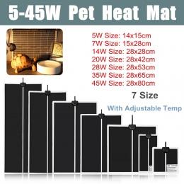 5-45 W Terrarium gady ciepła Mat wspinaczka ogrzewanie ciepłe podkładki regulowany regulator temperatury maty gady materiały