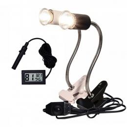 Lampa gadów zestaw UVA + UVB 3.0 klips lampy i staje w sytuacji sam na sam żarówka lampy uchwyt termometr higrometr żółw żółwie