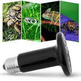 Grzewcza dla zwierząt domowych żarówka Mini podczerwieni ceramiczne emiter lampa grzewcza żarówka dla gadów domowych podgrzewacz