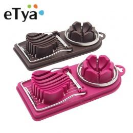ETya 1 PC wielofunkcyjny krajarka do jajek ze stali nierdzewnej do cięcia jajko maszyny do cięcia drutu akcesoria kuchenne do kr