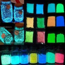 Kolorowe Luminous świecące piasek latarka w ciemności Fish Tank akwarium Ornament dekoracyjny zbiornik piasek kamyki strona deko