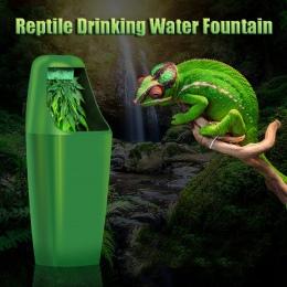 Gad filtr wody pitnej karmienie fontanny jaszczurka kameleon dozownik Terrarium gady akcesoria do karmienia 220-240 V AC