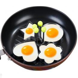 4 sztuk/zestaw ze stali nierdzewnej jajko sadzone Shaper naleśnik formy omlet formy do smażenia jajko narzędzia kuchenne akcesor