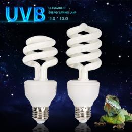 UVB 5.0 10.0 żarówki lampy dla żółw jaszczurka wąż Lguanas ciepła wapnia żarówki lampy oszczędzania energii światła gadów soczys