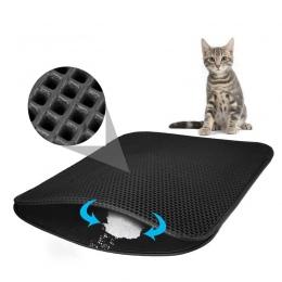 Wodoodporny zwierzę mata pod kuwetę dla kota EVA podwójna warstwa ściółki dla kota odłowu przy zastosowaniu pułapek na śmieci dl