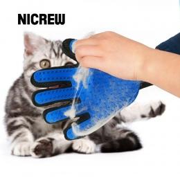 Nicrew się kot rękawica do pielęgnacji dla kotów rękawice z wełny do włosów dla zwierząt domowych Deshedding szczotka grzebień r