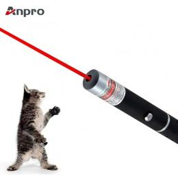 Anpro LED Laser zabawka dla zwierząt domowych 5 MW czerwona kropka światło laserowe zabawki celownik laserowy 530Nm 405Nm 650Nm