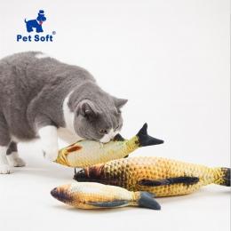 Zwierzęta domowe są miękkie pluszowe kreatywny 3D karp ryby kształt zabawka dla kota zabawka dla prezenty kocimiętka ryby wypcha