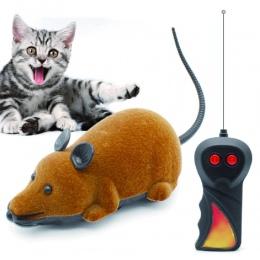 Mysz zabawki bezprzewodowy RC myszy kot zabawki zdalnego sterowania fałszywe myszy nowość RC kot śmieszne gry mysz zabawki dla k