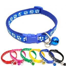 Łatwe noszenie obroża dla kota/psa z dzwonkiem regulowany klamra obroża dla psa kota Puppy Pet Supplies kot akcesoria dla psów m