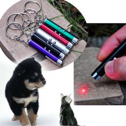 Nowy LED Light zabawki laserowe czerwony Laser w kształcie pióra Tease koty pręty światła widzialnego Laserpointer śmieszne inte