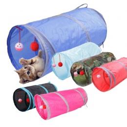6 kolor śmieszne zwierzęta domowe są tunel dla kota 2 otwory zagraj w tuby piłki składane marszczą zabawki dla kotów szczeniak f