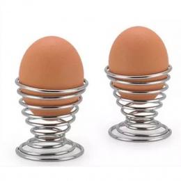 2019 najnowszy kuchnia śniadanie ciężko gotowane metalowe kieliszek do jajka sprężyny spiralne płaskie uchwyt kieliszek do jajka
