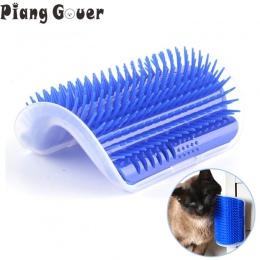 Rogu Szczotka do zwierząt grzebień grać zabawka dla kota zabawka dla plastikowe zarysowania włosia łuk do masażu siebie do pielę