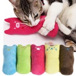 Śmieszne interaktywne szalony kot zabawkowe zwierzątko kotek zabawka do żucia zęby szlifowania kocimiętka zabawki pazury kciuka