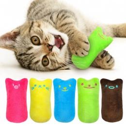 Śmieszne interaktywne pluszowy kot zabawkowe zwierzątko kotek zabawka do żucia zęby szlifowania kocimiętka zabawki pazury kciuka