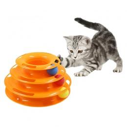 Trzy poziomy zabawka dla zwierząt domowych wieża utworów płyty kot inteligencja rozrywki potrójne zapłacić płyty zabawki dla kot