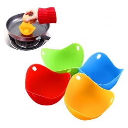 Hifuar 4 sztuk jajo silikonowe kłusownik kłusownictwo Pods jajko miska pierścienie kuchenka kotła akcesoria kuchenne do gotowani