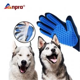 Rękawica dla zwierząt domowych kot rękawica do pielęgnacji kot włosów Deshedding szczotka rękawice pies grzebień dla kotów do ką