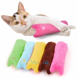 CARRYWON kot zabawki śmieszne interaktywne pluszowe kreatywna poduszka popularne wysokiej jakości zabawka z kocimiętką szlifowan