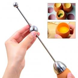 Skorupki jaja gotowane gotowane Topper Egg Cracker Snipper kuchenne ze stali nierdzewnej narzędzie do cięcia stali otwieracz do
