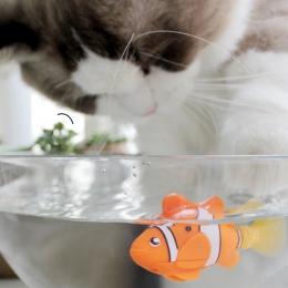 [Sklep MPK], zasilane z baterii ryby, zabawka dla kota kot ryby