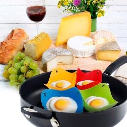 1 sztuk/partia jajo silikonowe kłusownik kłusownictwo Pods jajko miska pierścienie kuchenka kotła Cuit Oeuf Dur narzędzia kuchen