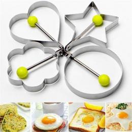 OUSSIRRO 4 sztuk/zestaw omlet ze stali nierdzewnej do smażenia jaj formy miłość kwiat okrągły gwiazda formy cozinha criativa jaj