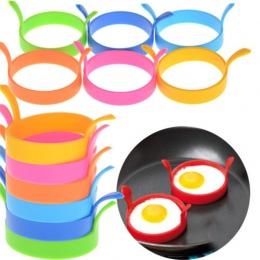 4 sztuk kreatywny jajko narzędzia okrągły kształt silikonowe omlet formy do jajka smażenia naleśnik gotowanie formy śniadanie ni