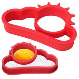 Hot 1 sztuk czerwony silikonowy SunCloud Cartoon smażyć jajko rama jajko formy naleśnik jaj pierścienie Shaper jaj omlet formy k