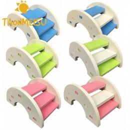 Śliczne chomika drabiny tęczowy most zabawki dla zwierząt drewniany most wiszące zabawki małe zwierzęta akcesoria do klatek dla