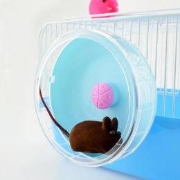 AsyPets śliczne kółko do ćwiczeń rolki cichy sportowe zabawki dla zwierząt domowych dla chomika