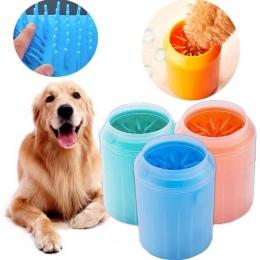 Pies łapa do czyszczenia miękkie delikatne silikonowy przenośny Pet Foot podkładka kubek Paw szczotka do czyszczenia szybko podk