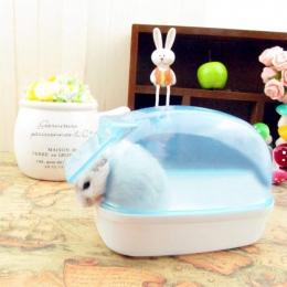 Adeeing, odporne na kurz plastikowe śliczne małe zwierzęta domowe są chomik łazienka Sauna wanna gry pudełko