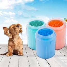 Pies łapa do czyszczenia miękkiego silikonu Pet stóp podkładka kubek delikatne włosie zwierzęta domowe są szczotka do czyszczeni
