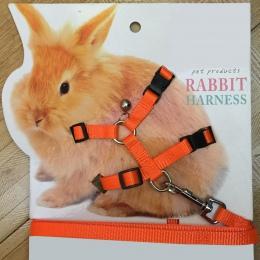 Wygodne dla zwierząt królik miękkie szelki smycze korygujący Bunny trakcji liny do biegania @ LS JY04