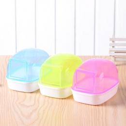 LanLan, odporne na kurz plastikowe śliczne małe zwierzęta domowe są chomik łazienka Sauna wanna gry Box-30