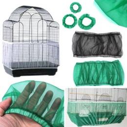 Siatka nylonowa receptora nasion osłona ptak papuga pokrywa, miękkie, łatwe do czyszczenia nylonowe przewiewne tkaniny siatki kl
