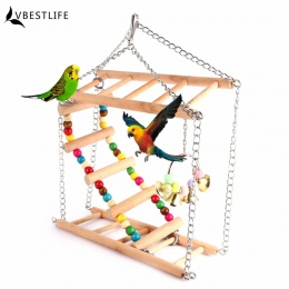 Papugi zabawki ptak huśtawka ćwiczenia wspinaczka wiszące drabiny most drewniane Rainbow zwierzęta domowe są papuga ara hamak za