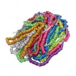 50 sztuk 2019 Multicolor gołębi stóp pierścień z słowo kolczyki jakości trwałe ptak pierścień gołębi pocztowych, stopa, pierście