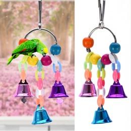 Kolorowe zabawki papuga zawieszenie wiszące most łańcuch zwierzęta ptak papuga zabawki do żucia klatka dla ptaków zabawki dla pa