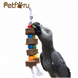 1/2 pc PETFORU z litego drewna ptak papuga żuć zabawki Parakeet drewniana piłka ciąg klatka zabawka dekoracji ptak zabawki dla z