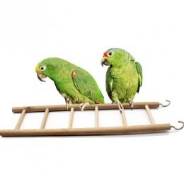 Zabawki dla ptaków drabiny drewniane Rocking Scratcher Perch wchodzenie po schodach chomiki klatka dla ptaków papuga zabawki dla