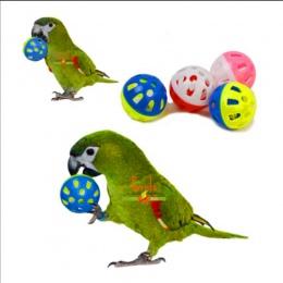 Zwierzęta domowe są papuga zabawki ptak Hollow piłka z dzwonkami dla papugi Cockatiel do żucia zabawy klatka zabawki