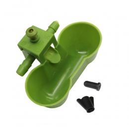 1 sztuk zielony nowy miseczka na wodę s przepiórki pitnej Waterer ptak Siamese miseczka na wodę narzędzia do karmienia